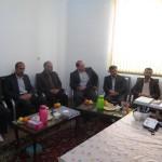 دیدار نوروزی شهردار محترم سرخه به همراه تعدادی از پرسنل محترم شهرداری با امام جمعه محترم