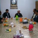 دیدار نوروزی فرماندار محترم به همراه تعدادی از مدیران اجرایی شهرستان سرخه با امام جمعه محترم