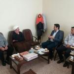 حضور امام جمعه محترم در اداره برق شهرستان سرخه