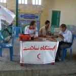 برپایی ایستگاه سلامت در مصلای نماز جمعه سرخه