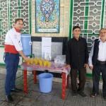 برپایی ایستگاه صلواتی در مصلای نماز جمعه سرخه