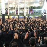 مراسم متمرکز سینه زنی هیئات مذهبی شهرستان سرخه در محل مصلای نماز جمعه