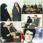 دیدار امام جمعه محترم شهرستان سرخه به اتفاق فرماندار محترم با خانواده شهید انقلاب در شهرستان سرخه