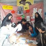 برپایی ایستگاه نقاشی در مصلای نماز جمعه شهرستان سرخه