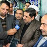 سفر رئیس بنیاد مسکن انقلاب اسلامی کشور و استاندار استان سمنان به شهرستان سرخه