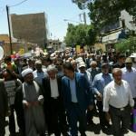 مراسم راهپیمایی روز قدس در شهرستان سرخه