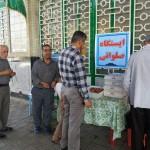 تشکیل ایستگاه های صلواتی در مصلای نماز جمعه شهرستان سرخه