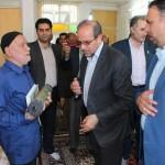 دیدار امام جمعه محترم به اتفاق مسئولین شهرستان با خانواده شهید والامقام حسن عربی