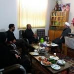 دیدار رئیس اداره میراث فرهنگی شهرستان سرخه با امام جمعه محترم