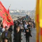 مراسم پیاده روی روز اربعین در شهرستان سرخه
