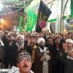 حضور هیئت محبان الرضای شهرستان بهارستان در شهرستان سرخه
