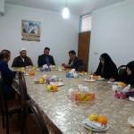 دیدار رئیس و اعضای شورای اموزش و پرورش با امام جمعه محترم