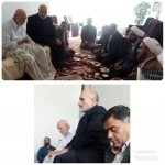 دیدار امام جمعه و تعدادی از مسئولین محترم شهرستان سرخه با پدر شهید والامقام نوروز علی ایمانی نسب