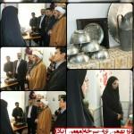حضور امام جمعه محترم به اتفاق مسئولین شهرستان سرخه در روستای مومن اباد