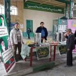 برپایی ایستگاه صلواتی در مصلای نماز جمعه شهرستان سرخه