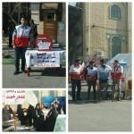 برپایی ایستگاه سلامت در راهپیمایی ۲۲ بهمن شهرستان سرخه