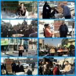 برپایی ایستگاه های صلواتی در راهپیمایی ۲۲ بهمن شهرستان سرخه