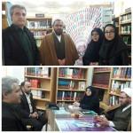 بازدید امام جمعه محترم به اتفاق شهردار محترم شهر سرخه از کتابخانه شهرستان