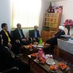 دیدار نوروزی رئیس و اعضای شورای شهر سرخه با امام جمعه محترم
