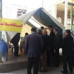برپایی ایستگاه سلامت در مصلای نماز جمعه شهرستان سرخه