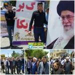 مراسم با شکوه راهپیمایی روز قدس در شهرستان سرخه