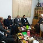 دیدار مدیر کل امور مالیاتی استان سمنان با امام جمعه محترم