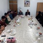 دیدار گروه فرهنگی انجمن رسالت قلم شهرستان سرخه با امام جمعه محترم