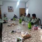 دیدار فرمانده نیروی انتظامی شهرستان سرخه با امام جمعه محترم