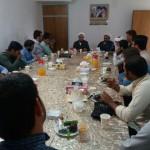 دیدار مدیر حوزه علمیه برادران شهرستان سرخه با امام جمعه محترم