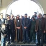 مراسم گلباران گلزار شهدای روستای افتر شهرستان سرخه در دهه فجر