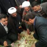 گلباران گلزارشهدای شهر سرخه با حضور استاندار استان سمنان