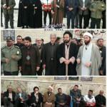 مراسم گلباران گلزار شهدای شهر سرخه در دهه فجر