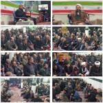 مراسم دعای ندبه در شهرستان سرخه در دهه فجر با سخنرانی امام جمعه محترم