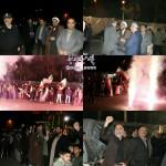 مراسم نورافشانی و بانگ الله اکبر در شهرستان سرخه در شب بیست و دوم بهمن