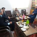 دیدار شهردار و تعدادی از روسای ادارات شهرستان سرخه با امام جمعه محترم