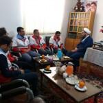 دیدار رئیس جمعیت هلال احمر شهرستان سرخه با امام جمعه محترم