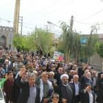 راهپیمایی مردم شهرستان سرخه در حمایت از سپاه پاسداران انقلاب اسلامی ایران