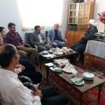 دیدار رئیس اداره تامین اجتماعی شهرستان سرخه با امام جمعه محترم