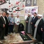 حضور امام جمعه محترم به همراه تعدادی از مدیران اجرایی بر سر مزار حجت الاسلام نطنزی