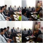 دیدار رئیس اداره برق شهرستان سرخه با امام جمعه محترم