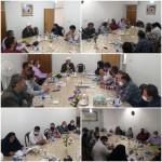 دیدار بخشدار و دهیاران روستاهای شهرستان سرخه با امام جمعه محترم