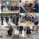 گلباران گلزار شهدای شهر سرخه به مناسبت پنجم مرداد