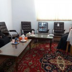 دیدار رئیس اداره کتابخانه های عمومی شهرستان سرخه با امام جمعه محترم