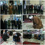 تجدید میثاق امام جمعه محترم و مدیران اجرایی شهرستان سرخه با شهدای والامقام