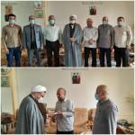 دیدار امام جمعه محترم با جانباز عزیز حاج فضل الله احسانی به مناسبت هفته بزرگداشت نماز جمعه