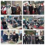 گلباران گلزار شهدای شهر سرخه به مناسبت هفته دولت