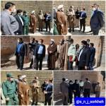بازدید دادستان محترم استان سمنان به اتفاق امام جمعه محترم دکتر فاطمی بصیراز کوچه شهید فخری