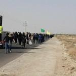 مراسم پیاده روی جاماندگان اربعین حسینی در شهرستان سرخه