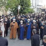 مراسم تشییع با شکوه شهید والامقام (سعید حسنان) در شهر سرخه